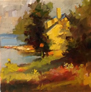 aline ordman pastel tour, workshop, holiday, slikamilina, art, painting, korcula, croatia, milina, artist, lessons, classes, pleinair, plein air, Maine Cottage