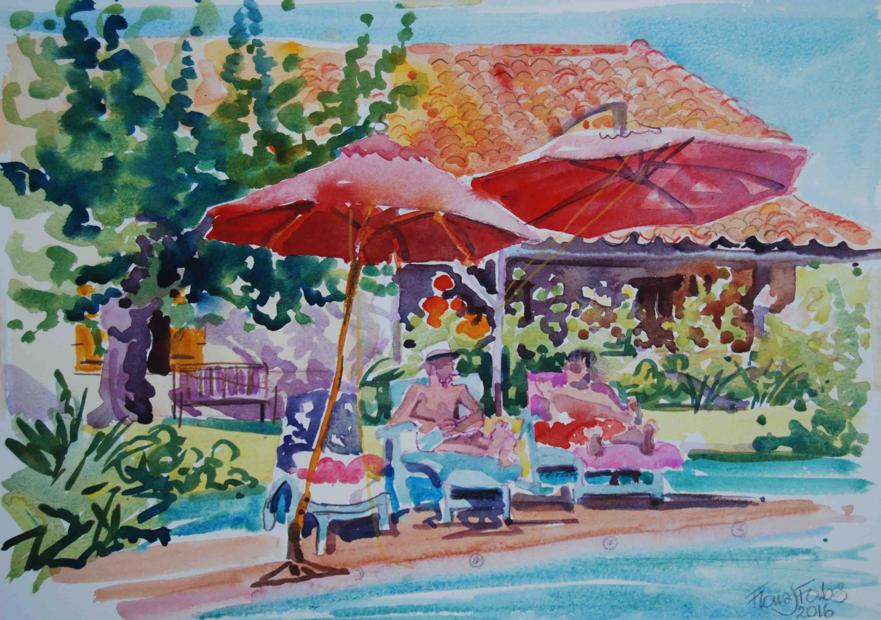 Watercolor artists directory wiki - Fiona Forbes Watercolour Holiday Slikamilina Painting Tours